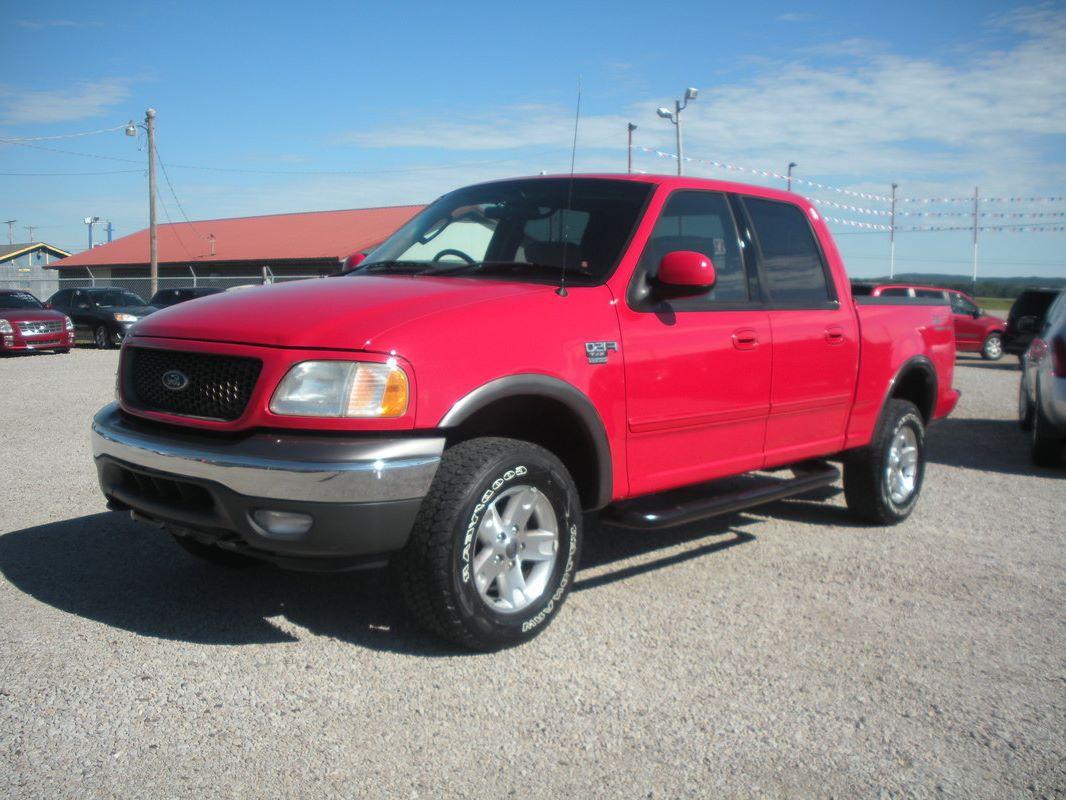 N917 2003 ford f150 supercrew xlt fx4 4x4 red v8 at ps pb pw pdl ac side steps 9 750 00